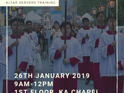 Altar Servers Training, 26 January 2019